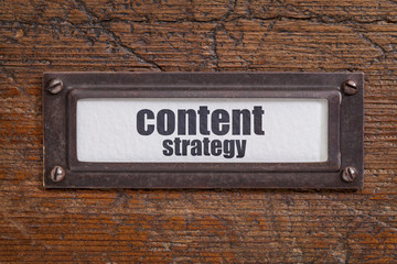 content strategy - file cabinet label