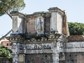 Rome, Italy, on March 6, 2015. Antique ruins within the city