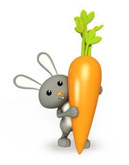 Cute Bunny stand with carrot