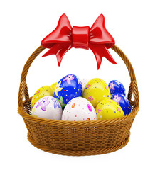 Basket with easter egg