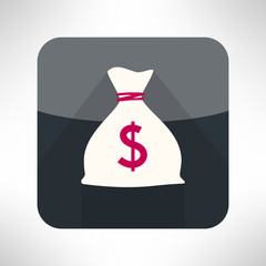 Simple money bag icon made in modern clean and simple flat