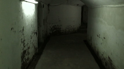 Walking in a mysterious underground tunnels
