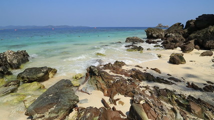 rock beach with sea at Koh Khai Nok, Thailand