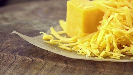 Grated Cheddar (seamless loopable 4K UHD footage)