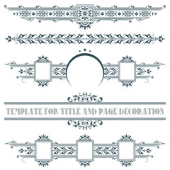 Vector elements for the design of advertisements, cards, web