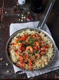 Couscous with prawns and vegetables