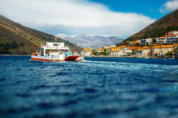 Ferry in Kotor bay