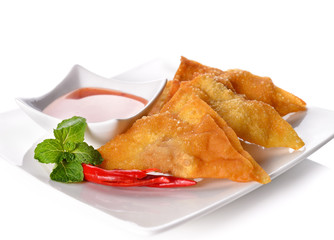 Fried dumplings :chinese food,asian food.
