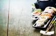 Closeup of fresh sushi - 81425508