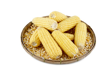 Corn On A Basket