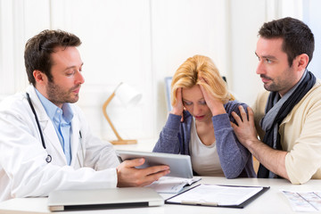 Man goes with his girlfriend on her visits to the doctor
