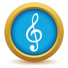 Gold music icon