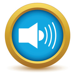 Gold add sound icon