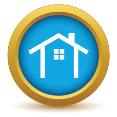 Gold building icon