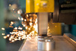 Finishing metal working on horizontal surface grinder machine - 81427939
