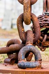 Eine Verrostete Eisenkette
