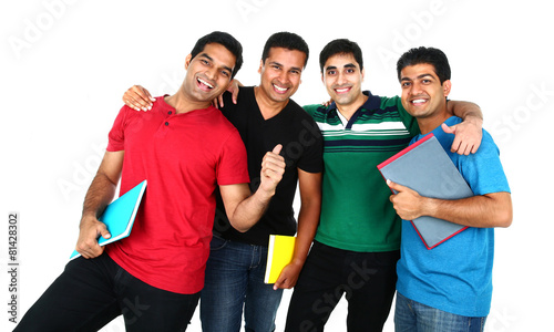 Young Indian/Asian group of people Isolated on white background.