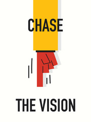 Words CHASE THE VISION