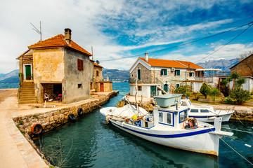 Old marina in Montenegro