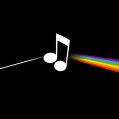 Note de musique - décomposition lumière