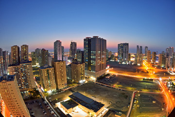 Night view of Sharjah, UAE