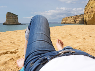 Barfuß - Auszeit - Erholung - Strand - Urlaub - Algarve