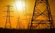 canvas print picture - High voltage power lines