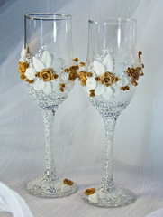 wedding glasses of champagne