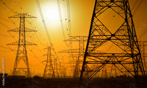 High voltage power lines - 81429135
