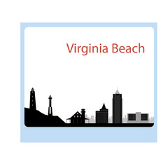 Virginia Beach  skyline. Detailed vector silhouette