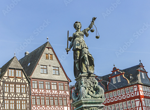 statue of Lady Justice in Frankfurt, Germany - 81430185