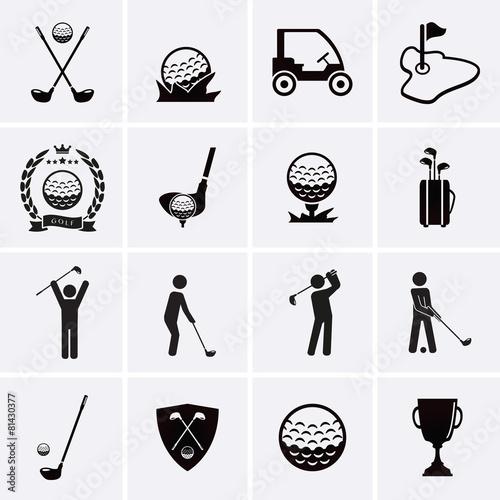 Fototapeta Golf Icons