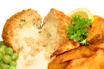 Cheese Filled Salmon Fish Cakes