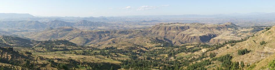 Landschaft von Amhara, Äthiopien, Afrika