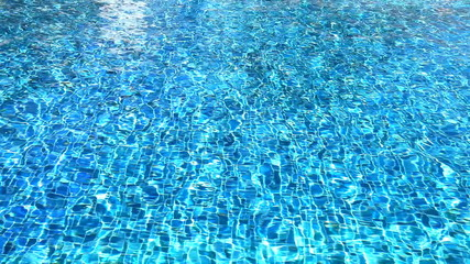 water reflection and refraction in beautiful swimming pool