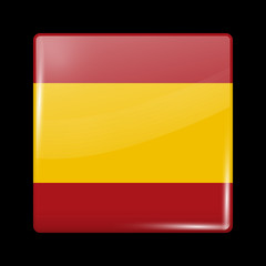 Flag of Spain. Glossy Icons