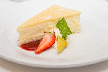 Cheesecake with Garnish