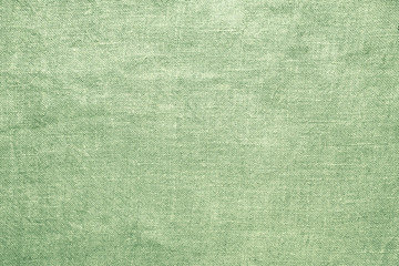 old linen green burlap texture material background