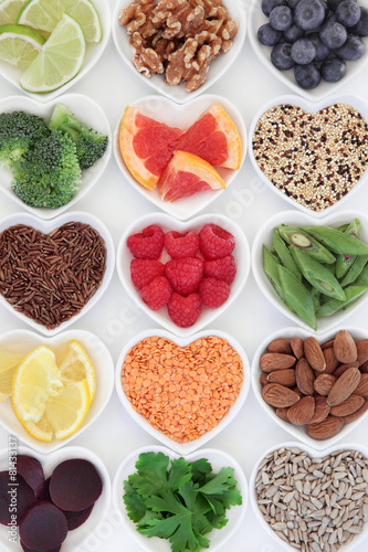 Deurstickers Assortiment Healthy Nutrition