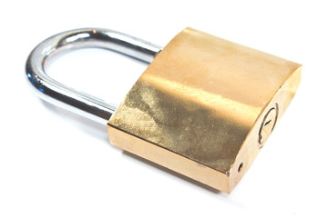 Padlock isolated on white