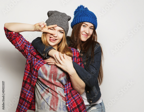 two young girl friends - 81433307