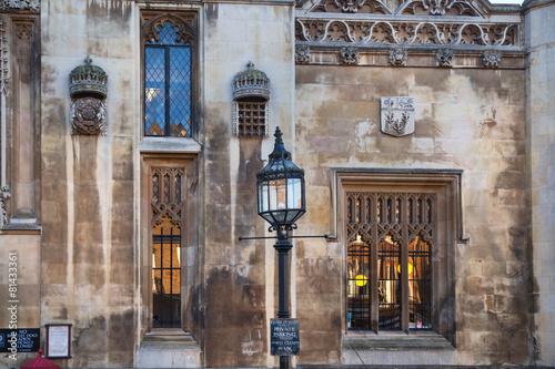 CAMBRIDGE, UK - JANUARY 18, 2015: King's college