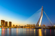 canvas print picture - Erasmus bridge Rotterdam