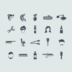 Set of barbershop icons