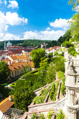 Ledeburska Garden and Saint Nicholas Church, Prague, Czech Repub