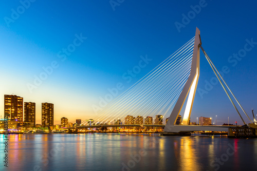 canvas print picture Erasmus bridge Rotterdam