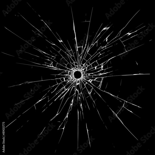 Bullet holes in glass - 81433775