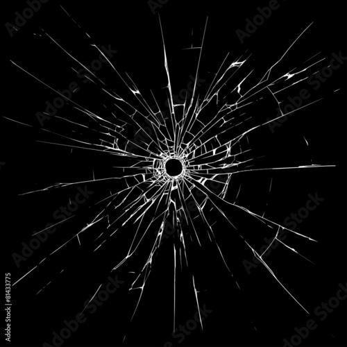 Fototapeta Bullet holes in glass