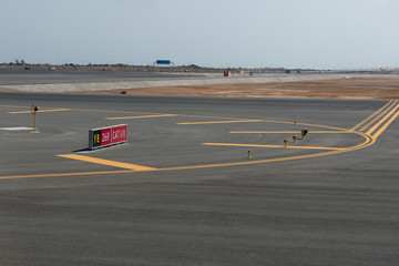 Arabic airport landing field