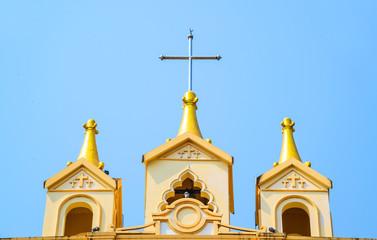 Suebnathitham church, located in Chiang Mai, Thailand.